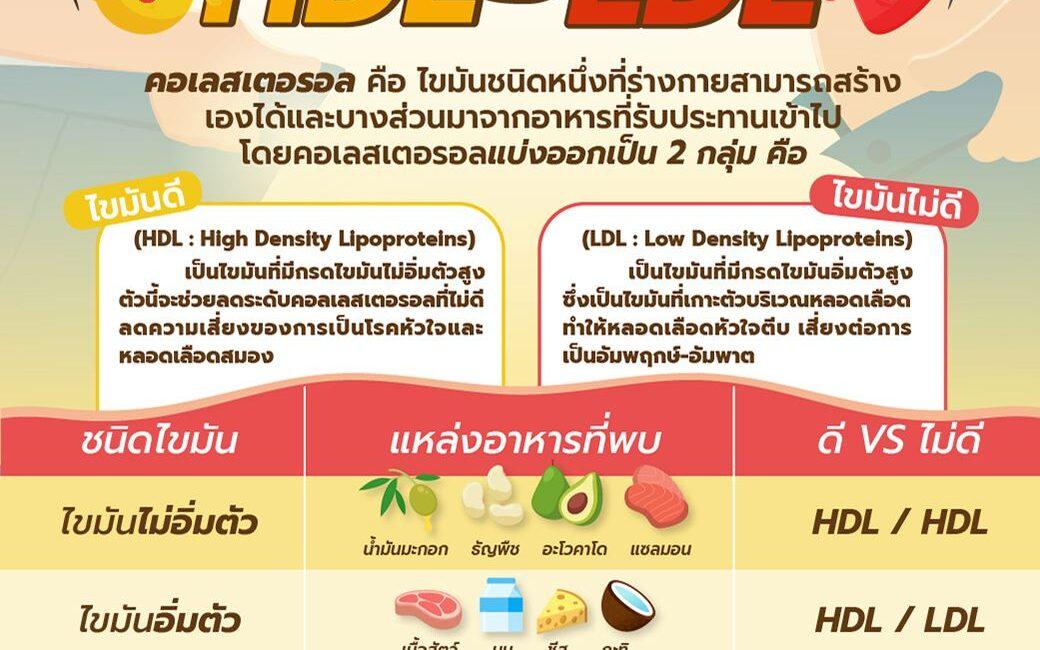 HDL VS LDL เพิ่มไขมันดี ลดไขมันเลว ลดคอเลสเตอรอลด้วยอาหาร (อานเก็งอี้)