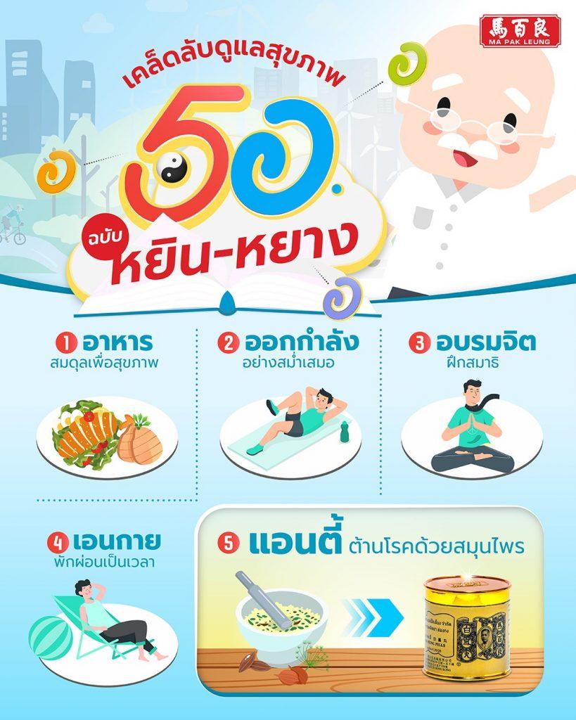 5 อ. เคล็ดลับดูแลสุขภาพแบบ หยิน-หยาง